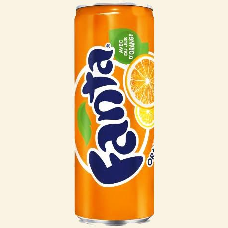 24 canettes de fanta orange 33 cl 1