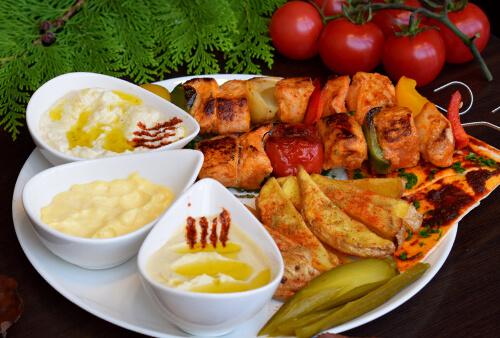 Assiettes chiche taouk