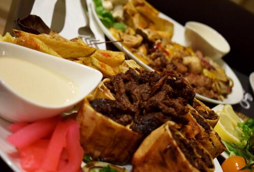 Assiettes shawarma boeuf
