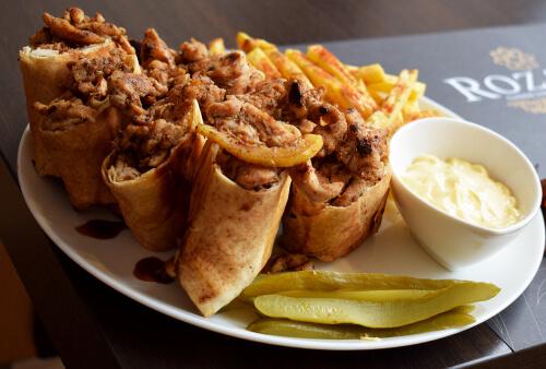 Assiettes shawarma poulet