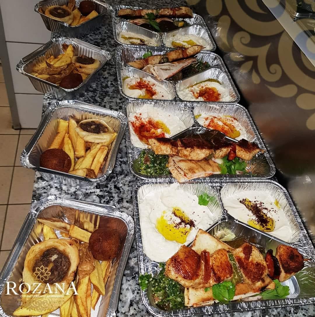 Assiette Rozana, cuisine syrienne et libanaise, Amiens