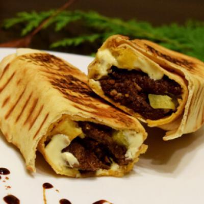 Sandwichs shawarma boeuf