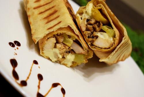 Sandwichs shawarma poulet