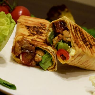 Sandwichs shawarma vegetarien