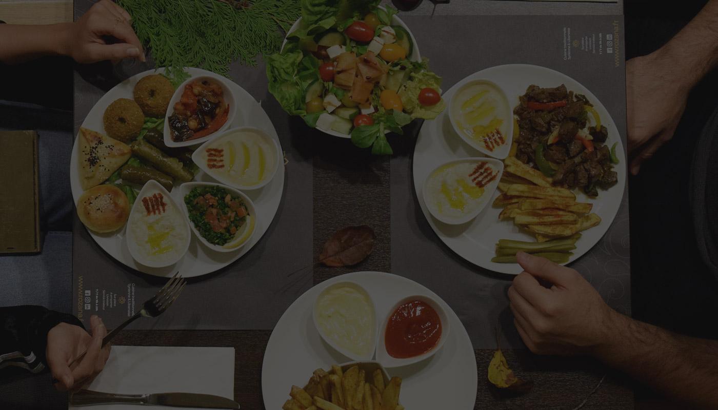 Livraison offerte, Rozana restaurant, meilleur restaurant libanais